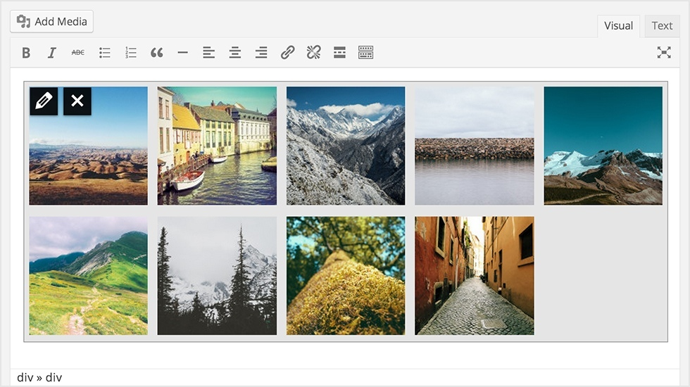 Gallery Preview in WordPress 3.9
