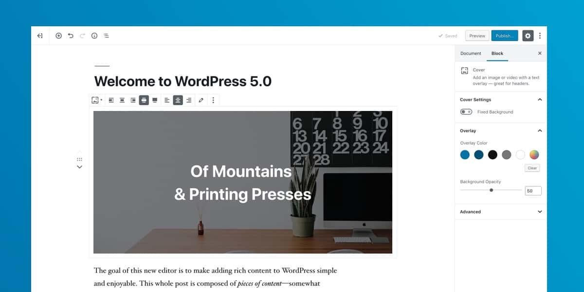 WordPress 5.0 sürümü yayınlandı