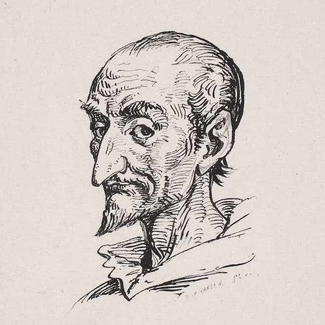 Pencil drawing of Don Quixote