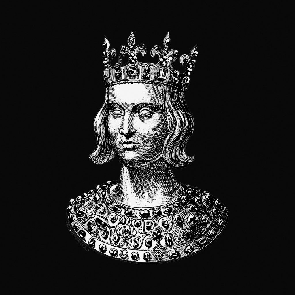 Illustration of a royal figure.