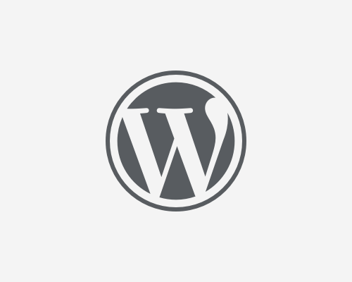WordPress logotype - W merk